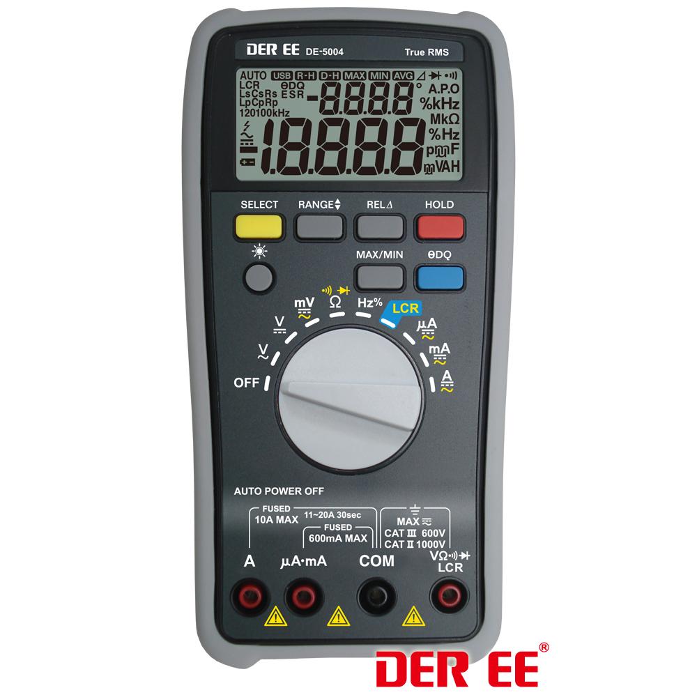 Der ee de-5000 high accuracy handheld lcr meter with tl-21 tl-22.